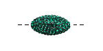 Emerald Pave (w/ Preciosa Crystals) Rice 19x10mm (1.5mm hole)