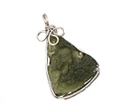 Moldavite Freeform Pendant w/ Bail 16-19x29-34mm