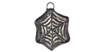 Gaea Ceramic Spiderweb Charm 20x24mm
