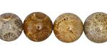Fossil Jasper Round 14mm