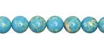 Blue Turquoise Impression Jasper Round 8mm