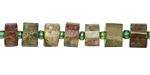 Green Garnet Faceted Disc 5-8x8-9mm