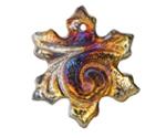 XAZ Raku Luster Snowflake Pendant 35-40mm