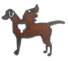 The Lipstick Ranch Rusted Iron Winged Setter Pendant 70x51mm