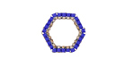 Cobalt Miyuki Delicas Woven on Stainless Steel Hexagon 16mm