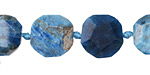 Pacific Blue Apatite Faceted Flat Slab 11-15x12-15mm