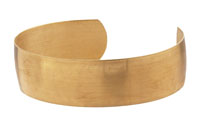 Brass Smooth Round Cuff 60x16mm