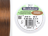 "Beadalon Bronze .018"" 7 Strand Wire 30ft."