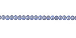 Matte Light Sapphire AB Crystal Faceted Rondelle 3mm