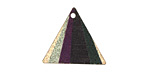 Prism Etched & Printed Gold Finish Triangle Focal 22x19mm