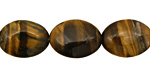 Tiger Eye Flat Oval 18x13mm