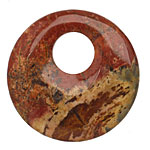 Red Creek Jasper Off Center Donut 45mm
