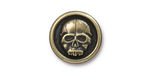 TierraCast Antique Brass (plated) Scary Skull Button 17mm