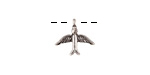 Zola Elements Antique Silver (plated) Soaring Bird Charm 13x12mm