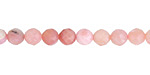 Pink Opal Faceted Round 6mm