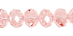 Light Rose Crystal Faceted Rondelle 14mm