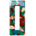 Zola Elements Lagoon Acetate Rectangle Donut 22x49mm