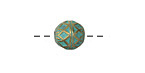 Zola Elements Patina Green Brass (plated) Harlequin Round 9mm