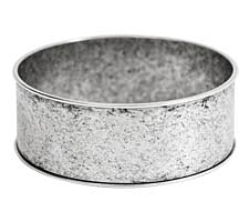 "Nunn Design Antique Silver (plated) 1"" Channel Bangle Bracelet 70mm"
