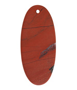 Red Jasper (matte) Thin Sliced Oval Pendant 24x53mm