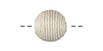 Ivory Thread Wrapped Bead 14mm
