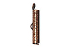 Antique Copper (plated) Textured Bead Tube Crimp End 24mm