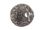 Green Girl Pewter Owl Branch Toggle 27mm, 19mm bar