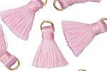Dusty Pink w/ Jump Ring Thread Tassel 20mm