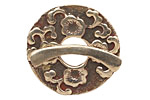 Saki White Bronze Sakura Toggle Clasp 33mm, 31mm bar