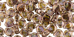 Transparent Gold Smokey Topaz Luster Matubo Ginkgo Leaf 7.5mm Seed Bead
