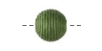 Forest Green Thread Wrapped Bead 14mm