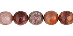 Indonesian Fossil Jasper (red) Round 10mm