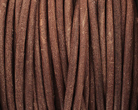 Natural Antique Brown Round Leather Cord 4mm