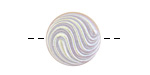 Czech Glass Silver AB Swirl Button 18mm