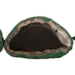 Moss Green Agate Natural Edge Freeform Faceted Slab 43-55x33-49mm