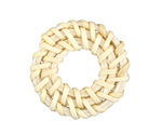 White Rattan-Style Woven Ring Focal 30-34mm