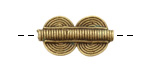 African Brass Double Disc 26-28x14-15mm