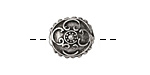 Greek Pewter Designed Puff Bead 15x7mm