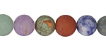 Matte Multi Gemstone (Sodalite, Tiger Eye, Red Jasper, Aventurine) Round 10mm