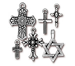 TierraCast Antique Silver (plated) Faith Charm Set
