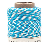 Turquoise & White Bamboo Baker's Twine, 147.6 ft