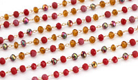 Spice Mix Crystal 3mm Delicate Brass Bead Chain