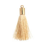 Wheat Thread Tassel w/ Gold Finish Tassel Cap 30mm