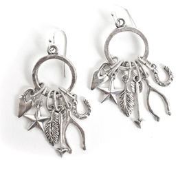 Nunn Design Antique Silver (plated) Lucky Charms Earrings Kit