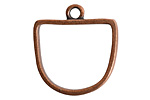 Nunn Design Antique Copper (plated) Open Half Oval Frame Pendant 28.5x31mm