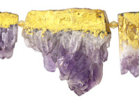 Amethyst Graduated Gilded Rough Pieces 15-44x15-48mm