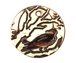 Earthenwood Studio Ceramic Raven Pendant 35mm