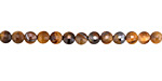 Tiger Eye Faceted Puff Coin 4mm