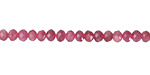 Pink Tourmaline Faceted Rondelle 4mm