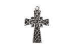 Greek Pewter (plated) Small Etched Cross Charm 17x25mm